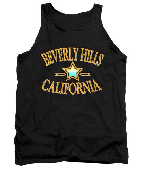 Beverly Hills California Star Design Tank Top