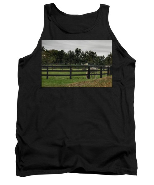 1004 - Beyond The Fence White Horse Tank Top
