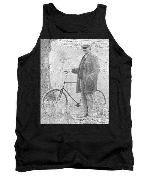 Bicycle And Jd Rockefeller Vintage Photo Art Tank Top