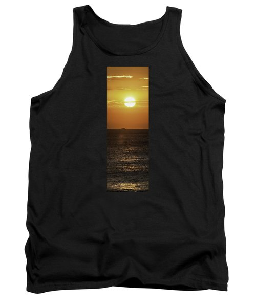 Tank Top featuring the photograph Big Ocean Small Boat by Jim Moore