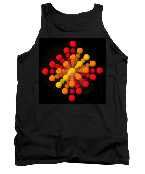 Big Red Figure Tank Top by Charles Stuart