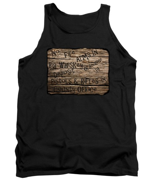 Tank Top featuring the drawing Big Whiskey Fire Arm Sign by Movie Poster Prints