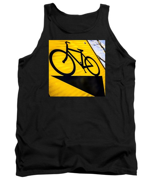 Tank Top featuring the photograph Bike Sign by Wade Brooks