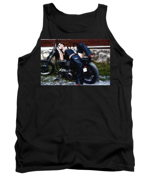 Bikes And Babes Tank Top by Clayton Bruster