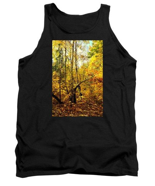 Birch Autumn Tank Top by Henryk Gorecki