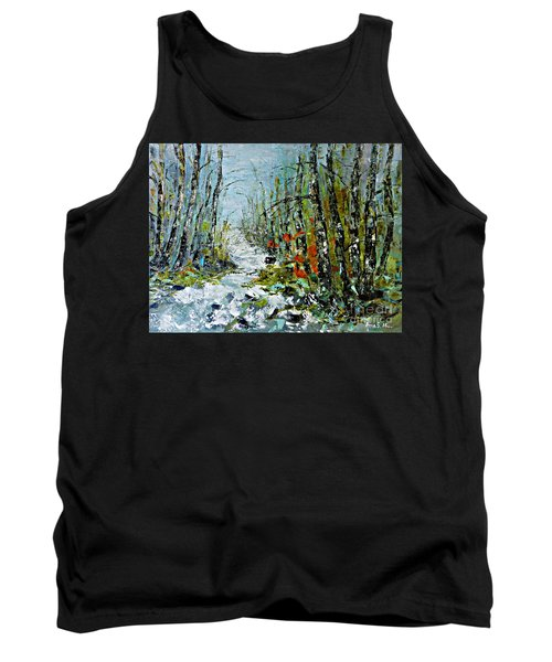 Birches Near Waterfall Tank Top by AmaS Art