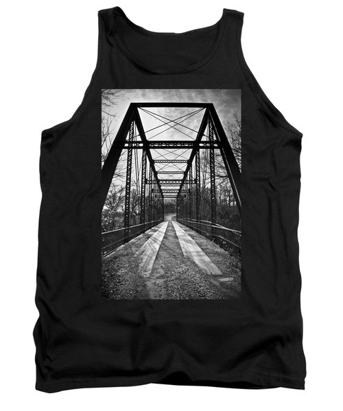 Bird Bridge Black And White Tank Top