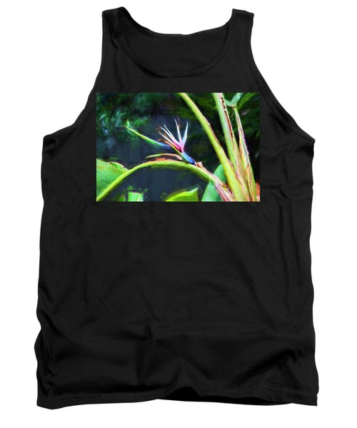 Bird Of Paradise Strelitzia Reginae 003 Tank Top