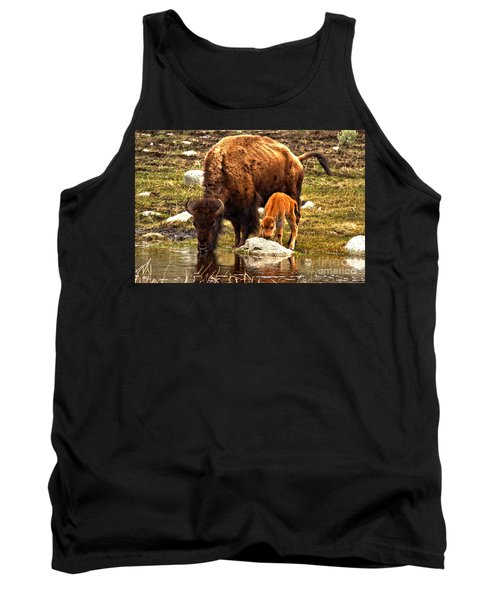 Bison Red Dog With Mom Tank Top