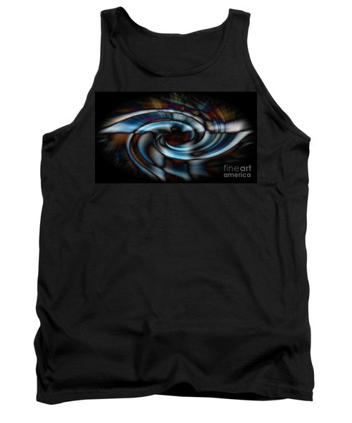 Black And Blue Tank Top