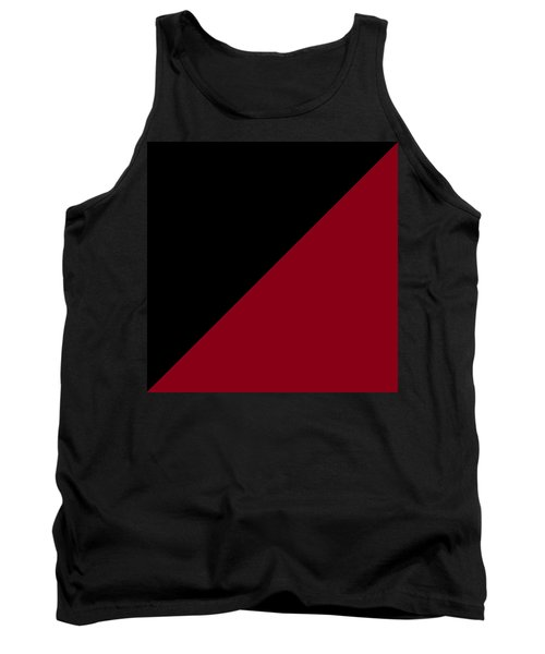 Black And Burgundy Triangles Tank Top