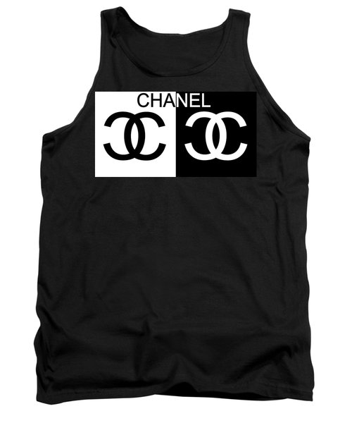 Black And White Chanel Tank Top