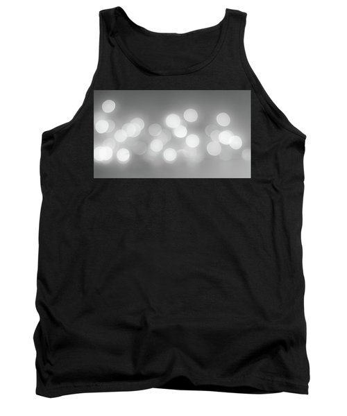 Black And White Circle Abstract  Tank Top by Terry DeLuco