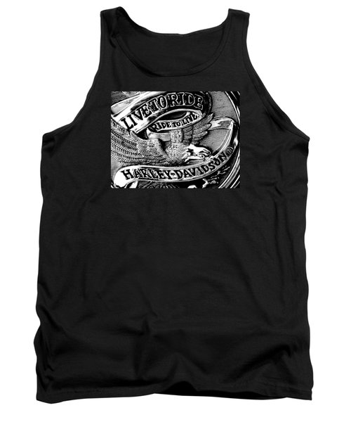 Black And White Emblem Tank Top by Chris Berry