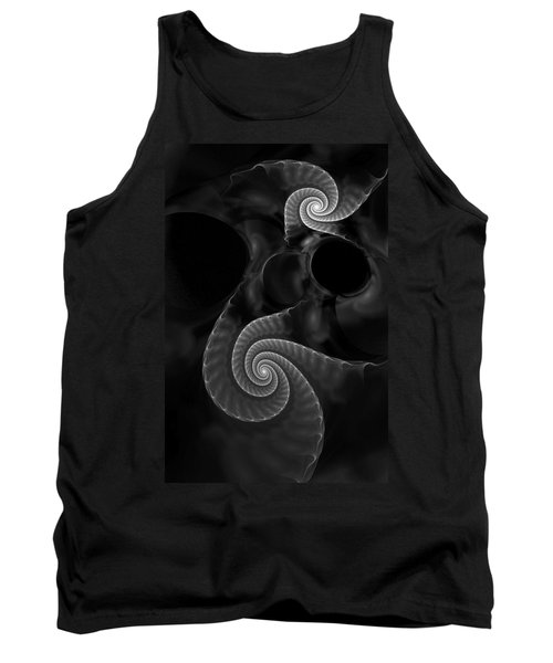 Black And White Fractal 080810 Tank Top