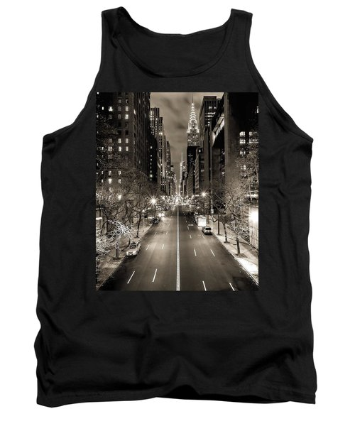 Black And White New York Tank Top