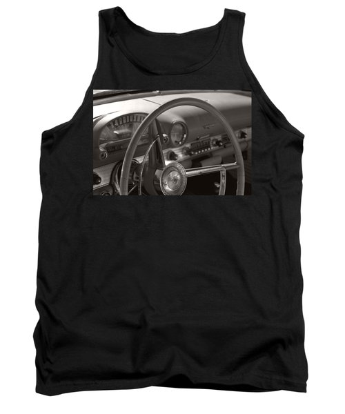 Black And White Thunderbird Steering Wheel  Tank Top