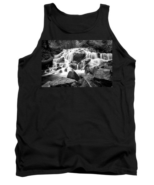 Black And White Waterfall In Lee Vining Canyon Tank Top