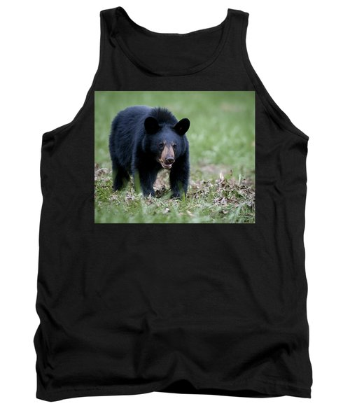 Tank Top featuring the photograph Black Bear by Tyson and Kathy Smith
