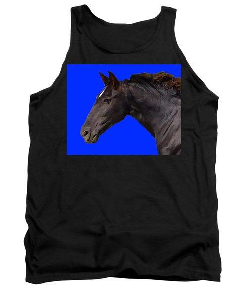 Black Horse Spirit Blue Tank Top