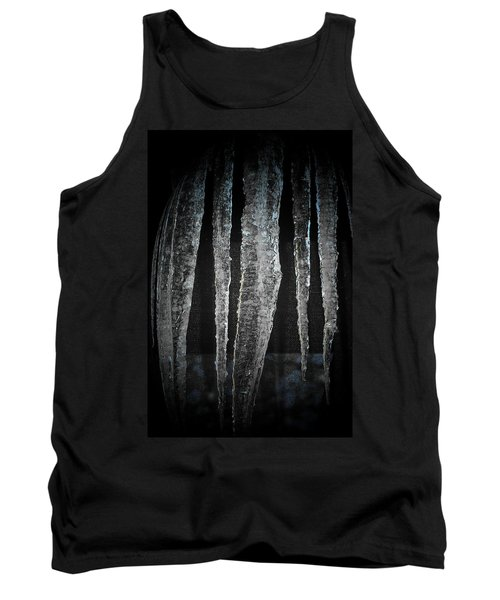 Tank Top featuring the digital art Black Ice by Barbara S Nickerson