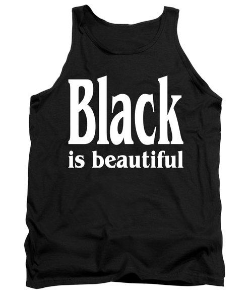 Black Is Beautiful - Tshirt Design Tank Top by Art America Gallery Peter Potter