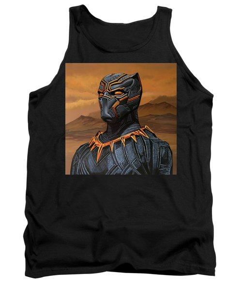 Black Panther Painting Tank Top