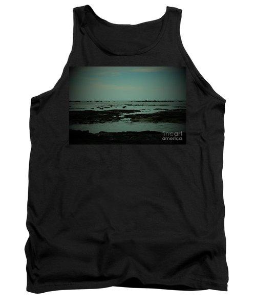Black Rock Beach Tank Top by Mini Arora