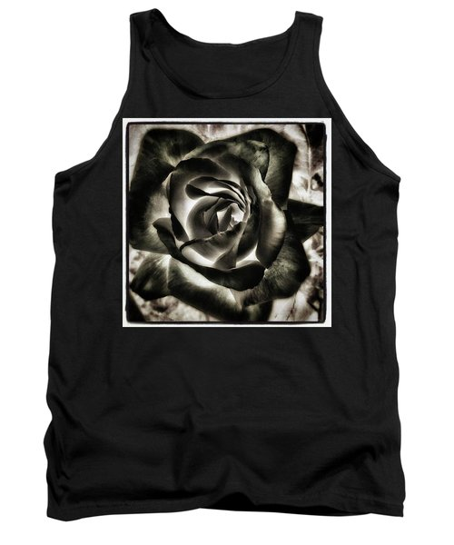 Tank Top featuring the photograph Black Rose. Symbol Of Farewells by Mr Photojimsf