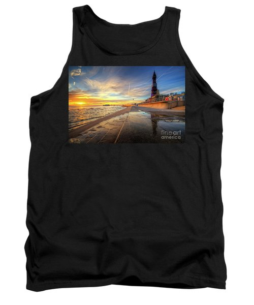 Tank Top featuring the photograph Blackpool Sunset by Yhun Suarez