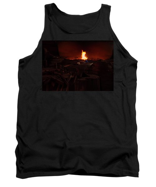Tank Top featuring the digital art Blacksmith Shop by Chris Flees