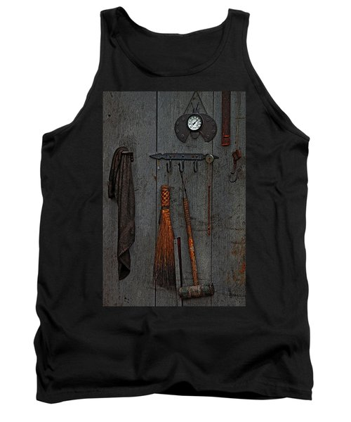Tank Top featuring the photograph Blacksmith Wall by Rowana Ray