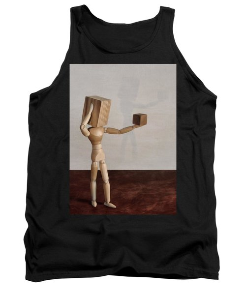 Tank Top featuring the photograph Blockhead by Mark Fuller