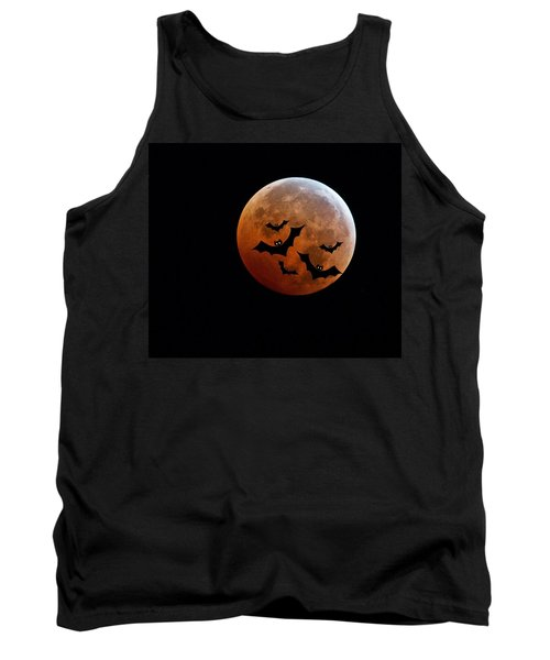 Blood Full Moon And Bats Tank Top