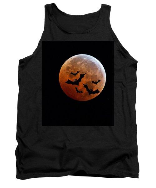 Blood Full Moon And Bats Tank Top