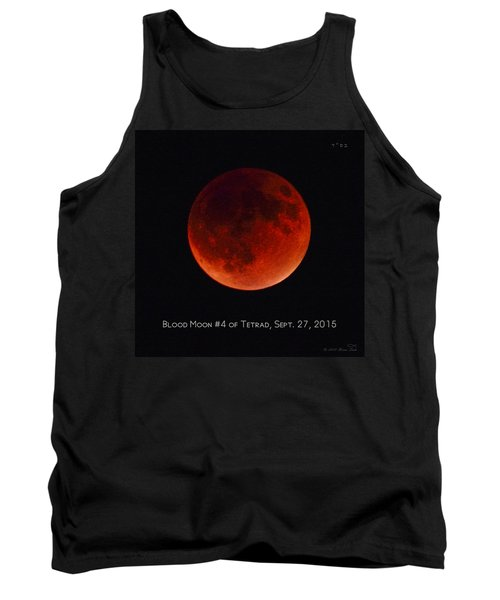 Blood Moon #4 Of Tetrad, Without Location Label Tank Top