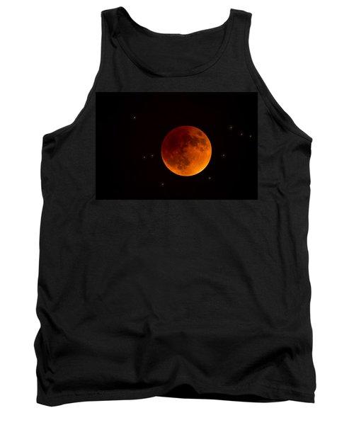 Blood Moon Lunar Eclipse 2015 Tank Top by Saija  Lehtonen