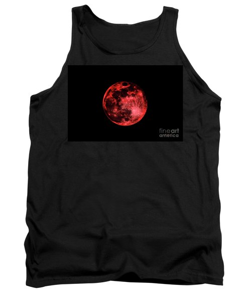 Blood Red Moonscape 3644b Tank Top