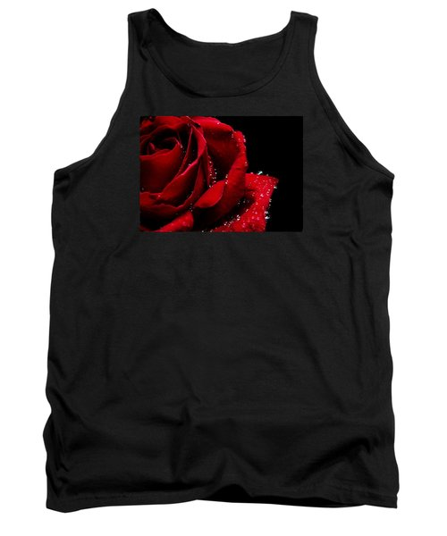 Blood Red Rose Tank Top