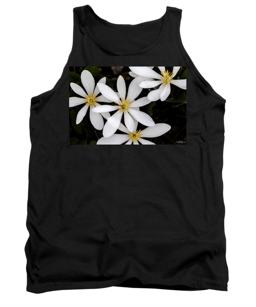 Tank Top featuring the photograph Sanguinaria by Skip Tribby