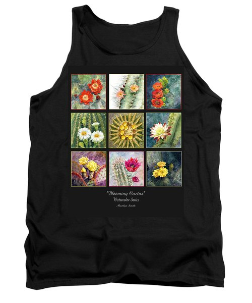 Tank Top featuring the painting Blooming Cactus by Marilyn Smith