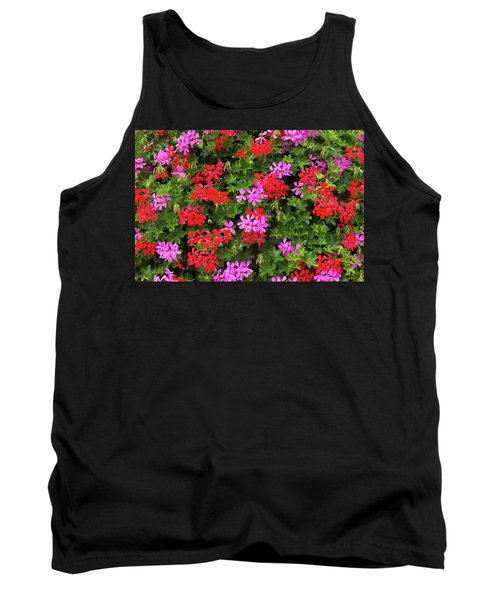 Blooming Flowers Background Tank Top by Hans Engbers