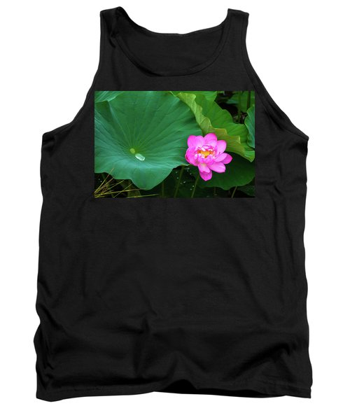 Blooming Pink And Yellow Lotus Lily Tank Top