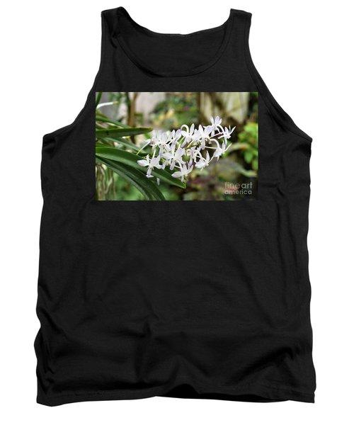 Blooming White Flower Spike Tank Top