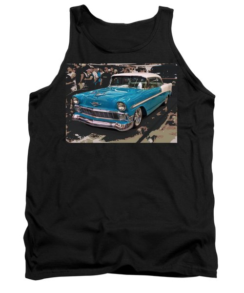 Blue '56 Tank Top by Victor Montgomery