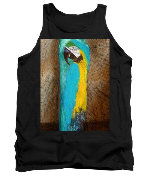 Blue And Gold Macaw Tank Top by Ann Michelle Swadener
