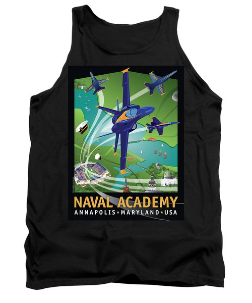 Blue Angels Over Usna Tank Top