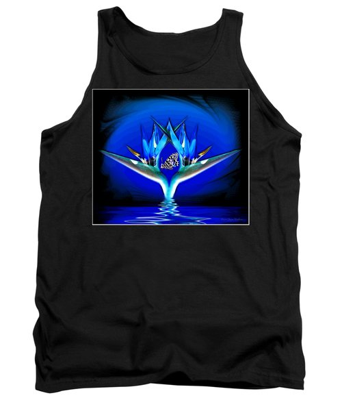 Tank Top featuring the photograph Blue Bird Of Paradise by Joyce Dickens