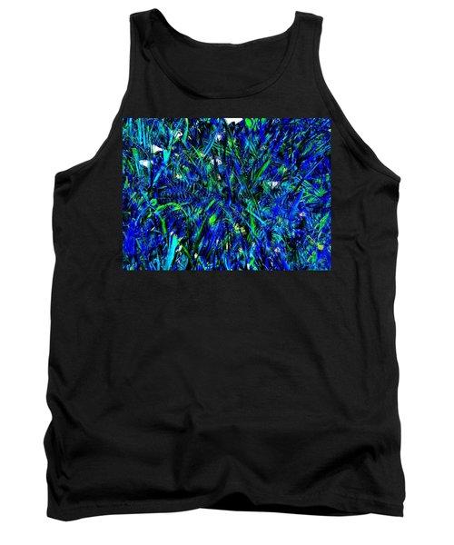 Blue Blades Of Grass Tank Top