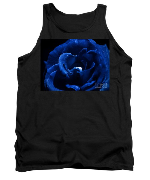 Blue Blue Rose Tank Top by Clayton Bruster